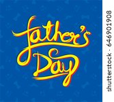 happy fathers day with mustache ... | Shutterstock .eps vector #646901908