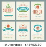 retro summer party design... | Shutterstock .eps vector #646903180