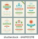 retro summer party design... | Shutterstock .eps vector #646903198