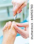 photo of pedicure procedure in... | Shutterstock . vector #646903783