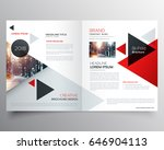 business bifold brochure or... | Shutterstock .eps vector #646904113
