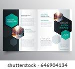 bifold business brochure or... | Shutterstock .eps vector #646904134