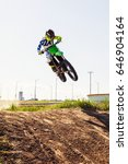 Motocross Rider In Action...