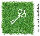web icon. key. vector... | Shutterstock .eps vector #646904404