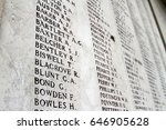 the names of soldiers killed... | Shutterstock . vector #646905628