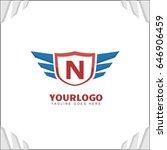 n letter brand identity. falcon ... | Shutterstock .eps vector #646906459