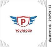p letter brand identity. falcon ... | Shutterstock .eps vector #646906468