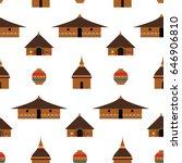 huts in africa. vector flat... | Shutterstock .eps vector #646906810