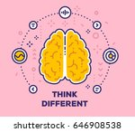 vector illustration of brain... | Shutterstock .eps vector #646908538