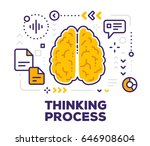 vector illustration of brain... | Shutterstock .eps vector #646908604
