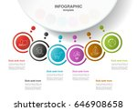 vector info graphic template... | Shutterstock .eps vector #646908658