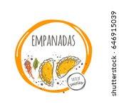 empanadas. taste of mexico.... | Shutterstock .eps vector #646915039
