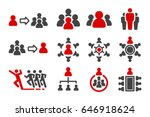 leader group organization icon... | Shutterstock .eps vector #646918624