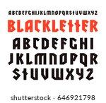 sanserif font in black letter... | Shutterstock .eps vector #646921798