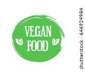 vegan food. stamp. sticker | Shutterstock .eps vector #646924984