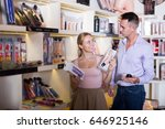 young family buying sex toys... | Shutterstock . vector #646925146
