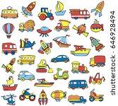 big transportation icons...   Shutterstock .eps vector #646928494