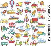 big transportation icons...   Shutterstock .eps vector #646928500