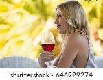 side view of beautiful woman... | Shutterstock . vector #646929274