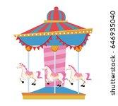 funfair circus carousel horse... | Shutterstock .eps vector #646935040