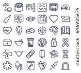 medical icons set. set of 36... | Shutterstock .eps vector #646935679