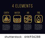 Nature 4 Elements Line Gold...