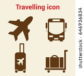 simple travel icons set.... | Shutterstock .eps vector #646936834