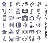sound icons set. set of 36... | Shutterstock .eps vector #646937710