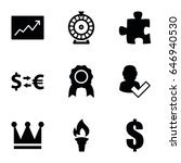 success icons set. set of 9... | Shutterstock .eps vector #646940530