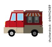 food truck icon image  | Shutterstock .eps vector #646942489