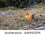 burning fields  | Shutterstock . vector #646942594