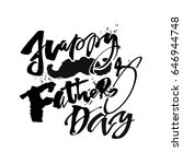 fathers day concept hand... | Shutterstock . vector #646944748