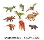Dinosaurs Toys On White...