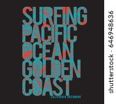 surf typography  tee shirt... | Shutterstock .eps vector #646948636