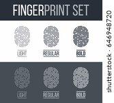 set of fingerprints for...   Shutterstock .eps vector #646948720