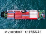 container container ship in... | Shutterstock . vector #646953184