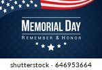 memorial day   remember and... | Shutterstock .eps vector #646953664