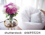 home decoration  fresh pink... | Shutterstock . vector #646955224