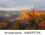 Grand Canyon At The Sunset Wit...