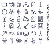 job icons set. set of 36 job... | Shutterstock .eps vector #646956286