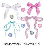 set of watercolor illustrations ... | Shutterstock . vector #646961716