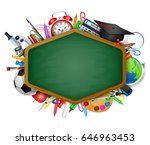back to school.with blackboard...   Shutterstock .eps vector #646963453