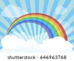 rainbow across vast skies.... | Shutterstock .eps vector #646963768