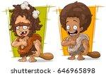 cartoon funny prehistoric man... | Shutterstock .eps vector #646965898