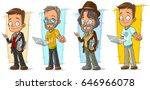cartoon smart programmer with... | Shutterstock .eps vector #646966078