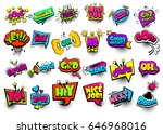 big set colored comic text... | Shutterstock .eps vector #646968016
