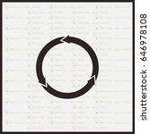 circular arrows vector icon   Shutterstock .eps vector #646978108