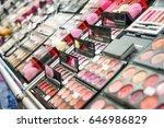 different cosmetics in modern... | Shutterstock . vector #646986829