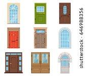colorful front doors.... | Shutterstock .eps vector #646988356