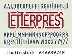 letterpress printing style... | Shutterstock .eps vector #646989748